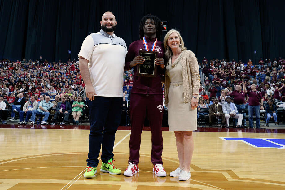 Silsbee's Devon McCain was named Most Valuable Player in the class 4A state final at the Alamodome in San Antonio on Saturday afternoon.   Photo taken Saturday 3/10/18 Ryan Pelham/The Enterprise Photo: Ryan Pelham / ©2017 The Beaumont Enterprise/Ryan Pelham
