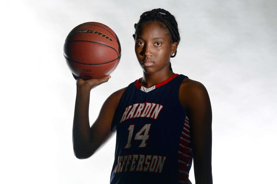 Hardin-Jefferson's Tunisha Strong was named the 2018 Super Gold Girls Basketball Player of the Year, presented by Mid Country Chrysler Dodge Jeep Ram and Fiat. (Guiseppe Barranco/The Enterprise)