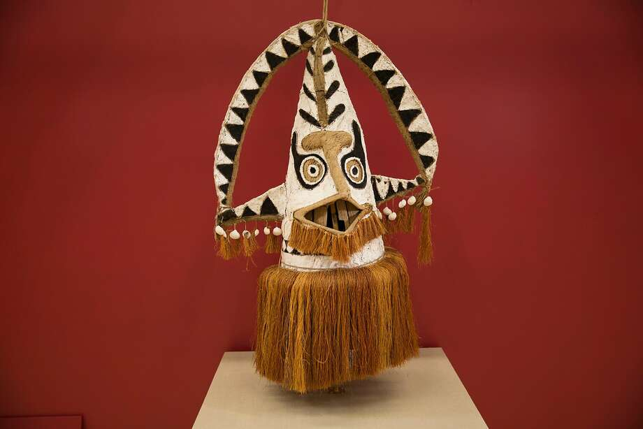 This eharo mask from New Guinea is part of the inaugural exhibition at S.F. State University's Global Museum. Photo: San Francisco State University