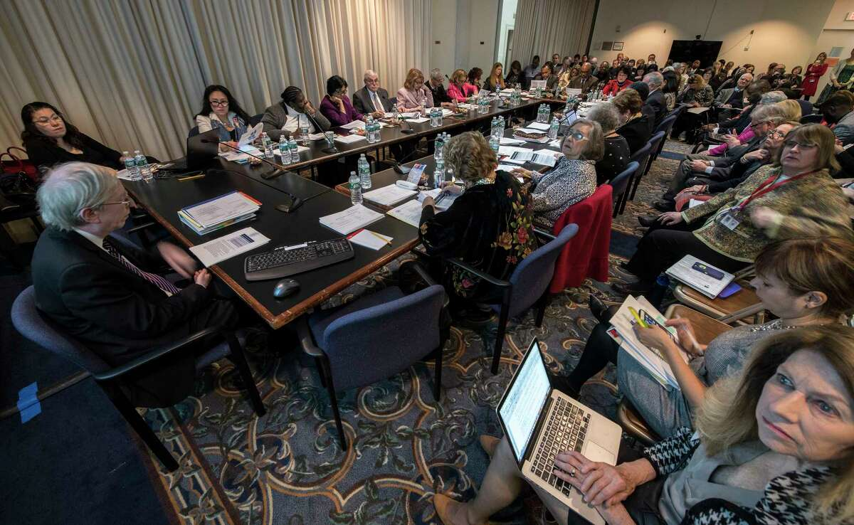 The Board of Regents gathered for a monthly meeting on Monday April 9, 2018, at the State Education Building in Albany, N.Y. (Skip Dickstein/Times Union)