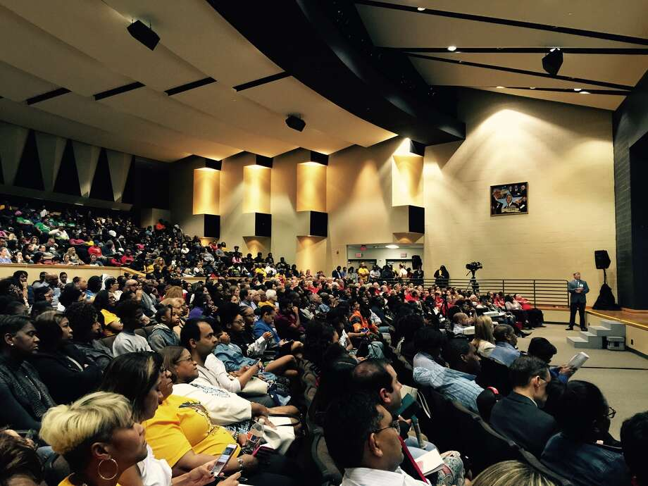 A standing-room only crowd voiced its displeasure with proposed school closures within Fort Bend ISD last week.