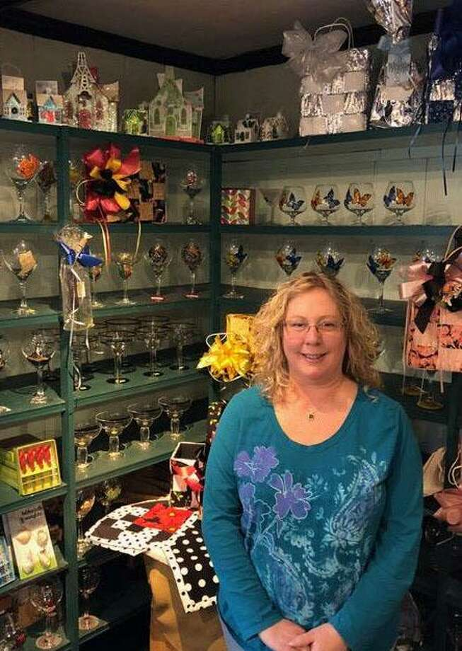 Dolly Bellamy of New Milford will focus on her businesses at mywineglasses.com and https://dollygifts.etsy.com. Photo: Deborah Rose / Hearst Connecticut Media / The News-Times  / Spectrum
