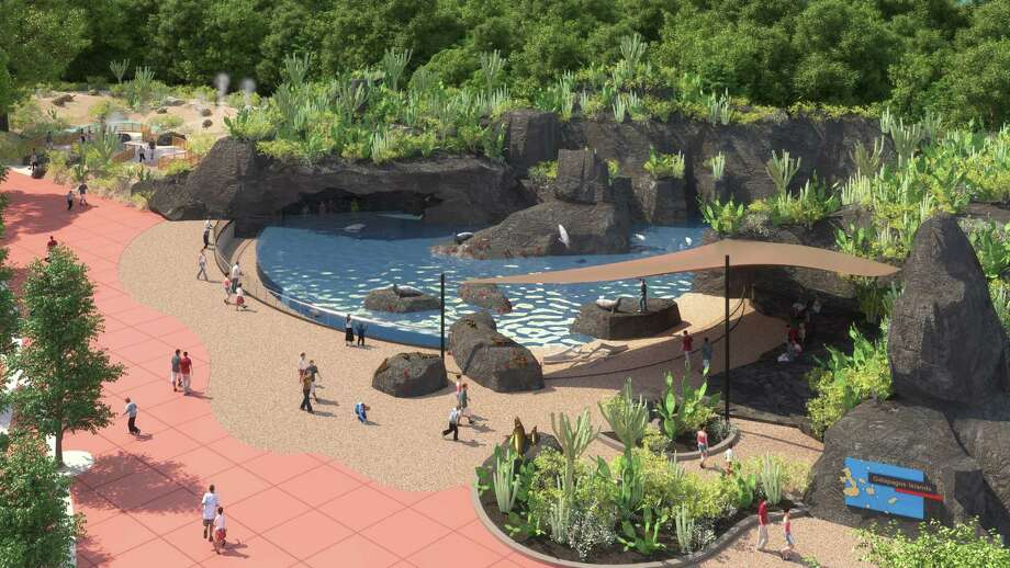 A rendering of the Galapagos Island habitat, a part of the Keeping Our World Wild campaign. Photo: Houston Zoo