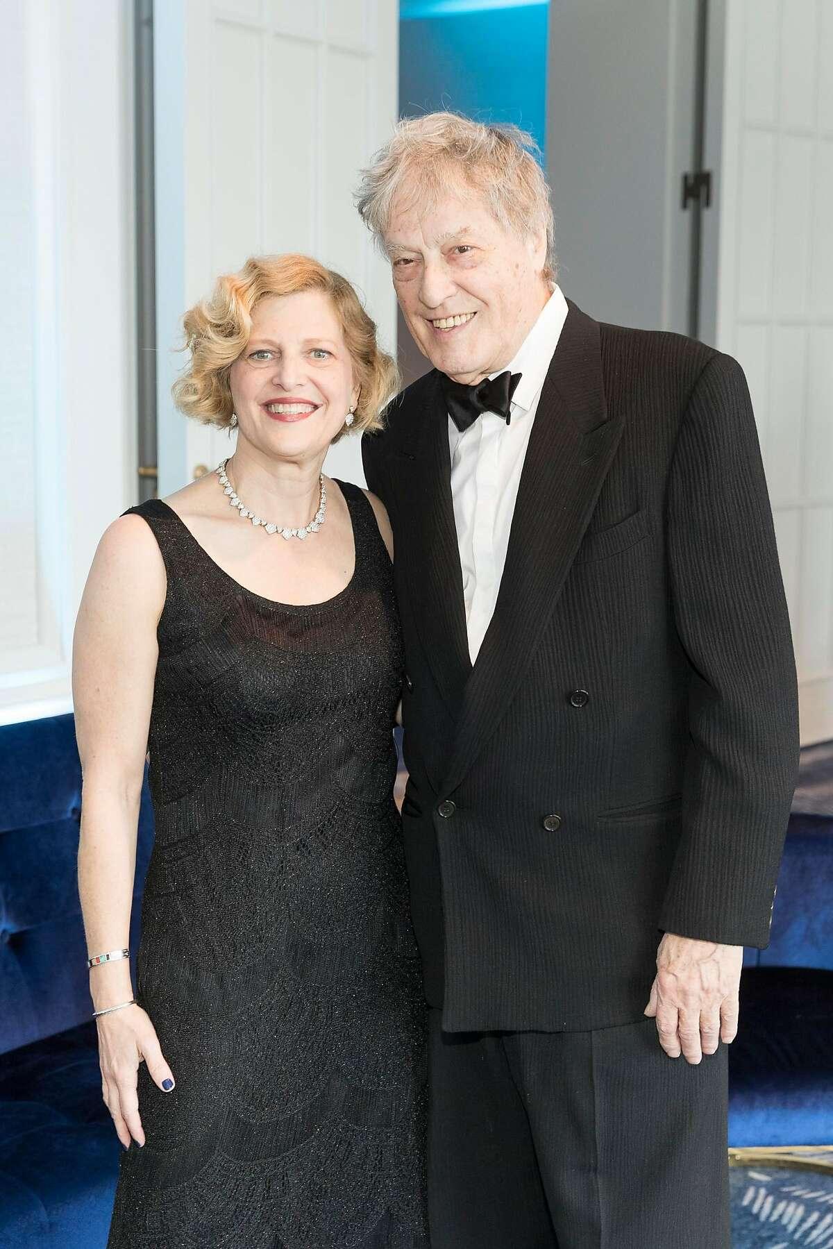 Carey Perloff and Tom Stoppard at ACT gala honoring Perloff