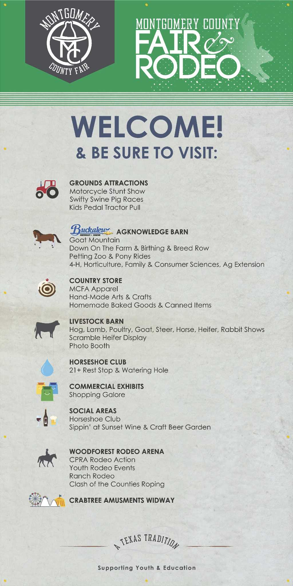 2018 Schedule Of Events At The Montgomery County Fair