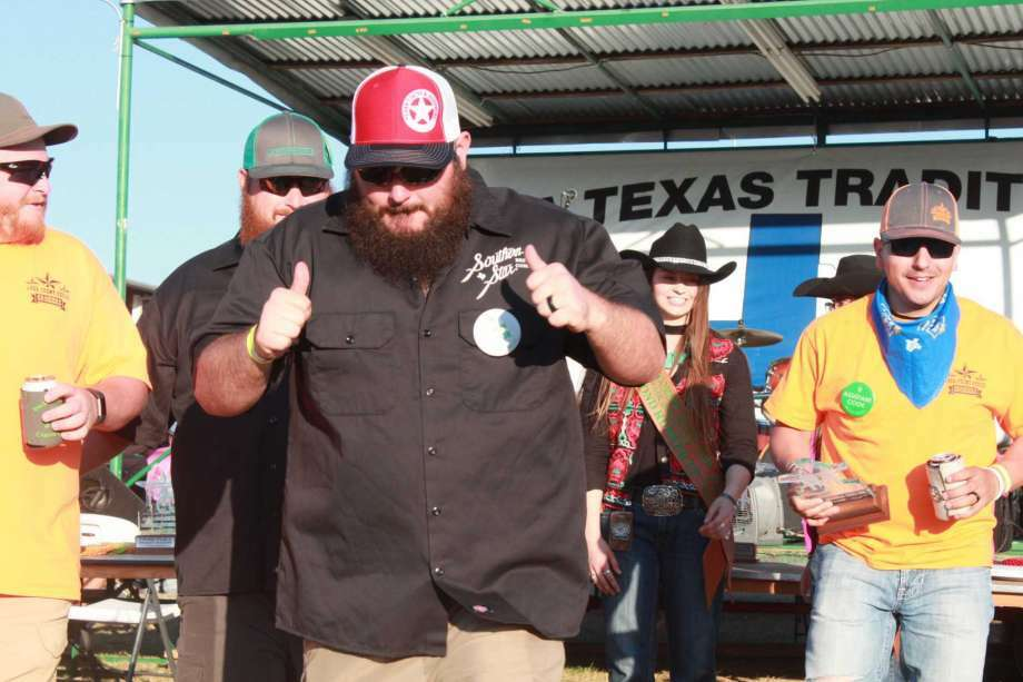 Overall Grand Champion 1484 Front Porch Cookers and Reserve Grand Champion Majick Smokers embraced each other at the end of the tough competition featuring 147 teams with the top 10 places awarded for chicken, ribs, pork and brisket at the 2017 Montgomery County Fair.
