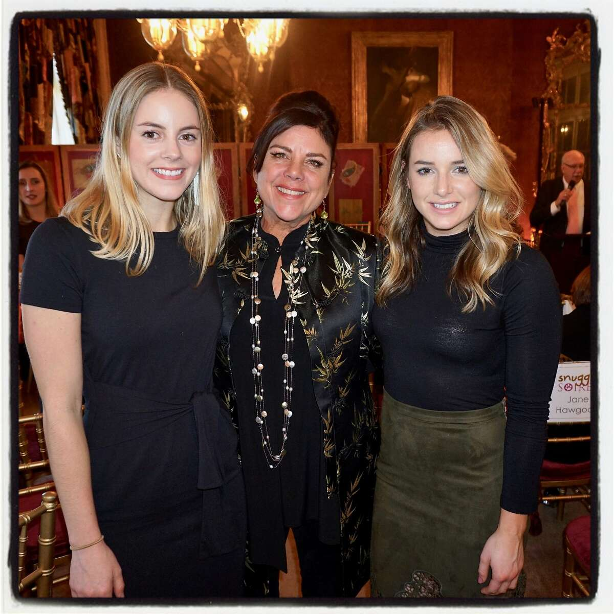 Christie Ring (left) with her mom, Connie, and sister, Katie Ring, at the Snuggly Soiree. March 26, 2018