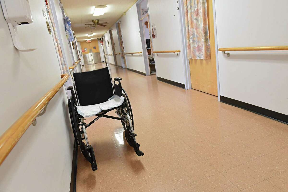 A wheelchair is seen in the hallway at St. Joseph's Provincial House on Thursday, April 5, 2018 in Latham, N.Y. The residence for retired sisters is getting a PACE (Program of All-Inclusive Care for the Elderly) center. (Lori Van Buren/Times Union)