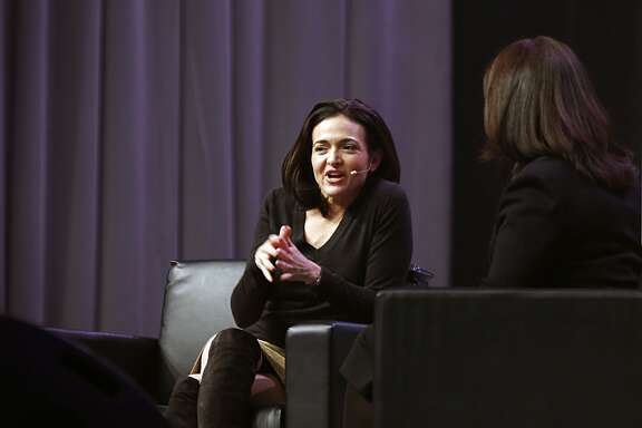Facebook Chief Operating Officer Sheryl Sandberg speaks during Grace Hopper Celebration of Women in Computing conference at the George R. Brown convention center Thursday, Oct. 15, 2015, in Houston.  ( James Nielsen / Houston Chronicle )