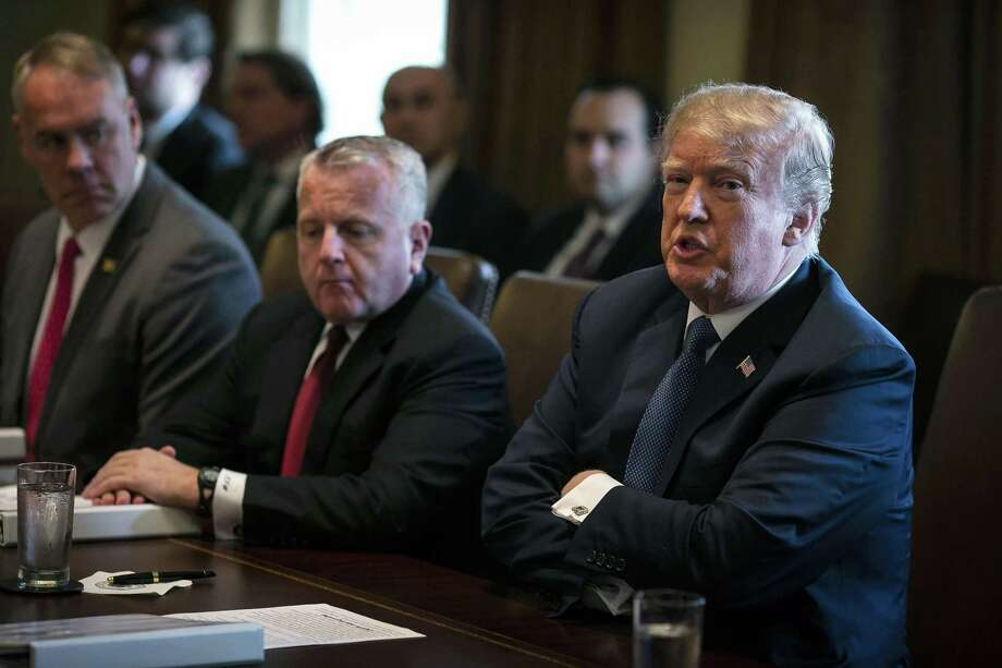 U.S. President Donald Trump speaks during a cabinet meeting at the White House in Washington, D.C., U.S., on Monday, April 9, 2018. Trump promised U.S. farmers that they will emerge from a trade dispute with China better off despite threats from Beijing to impose tariffs targeting American agricultural products. Photo: Al Drago /Bloomberg / © 2018 Bloomberg Finance LP