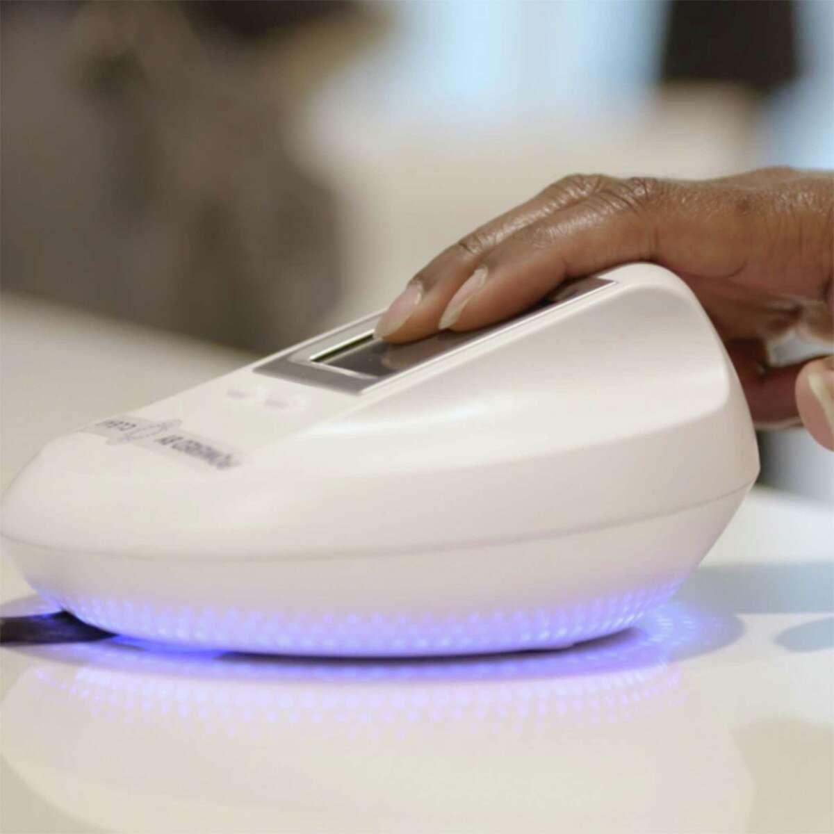 Delta fingerprint scanner.