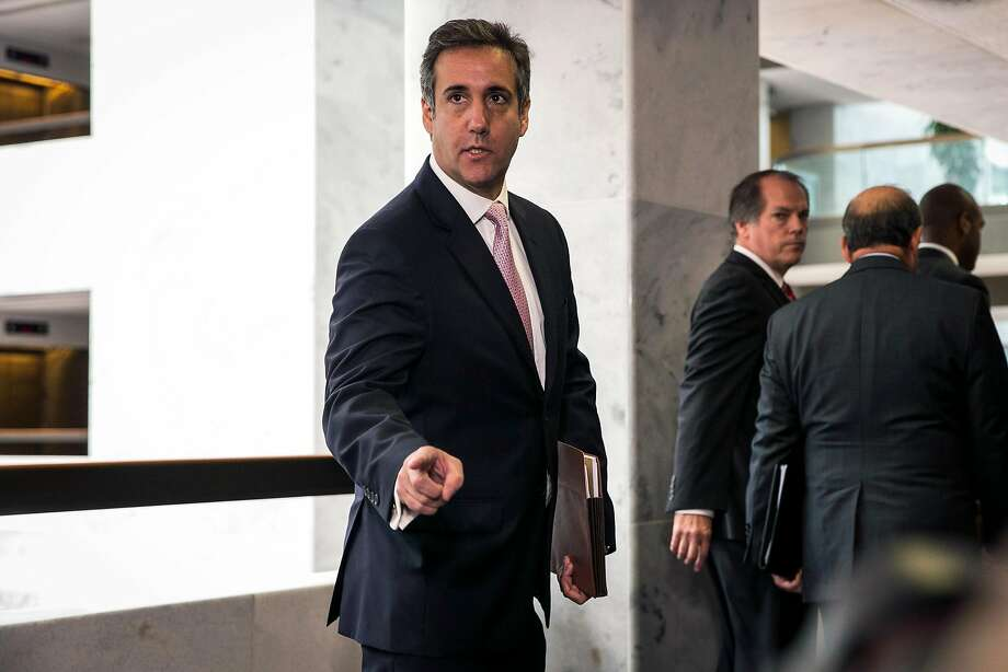 The FBI raided offices of Michael Cohen, President Trump's personal lawyer, seen in 2017, who says he paid Stormy Daniels $130,000 from his own pocket. Photo: Al Drago / New York Times 2017