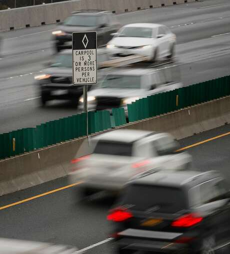 Traffic in the car pool lanes along the interstate 80 freeway in Berkeley, Calif., on Tues. March 20, 2018. Photo: Michael Macor / The Chronicle