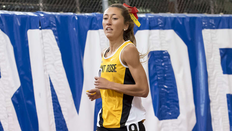 Guilderland High graduate Christine Myers of the Saint Rose outdoor track team. (Courtesy of Saint Rose Athletics)