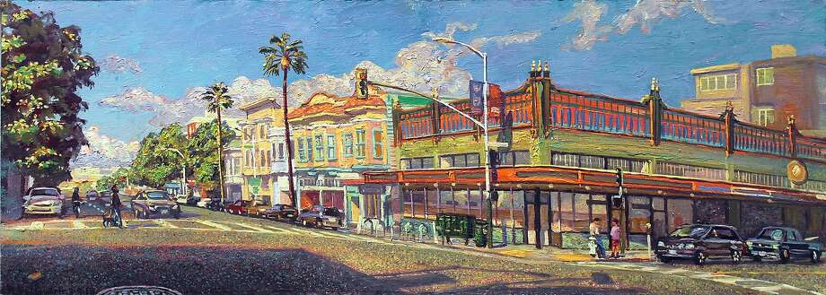 """""""Boogaloos #1"""" by Anthony Holdsworth. The 73-year-old artist has painted all over the world, but he's focused on the Mission District for the past four years. Photo: Anthony Holdsworth"""