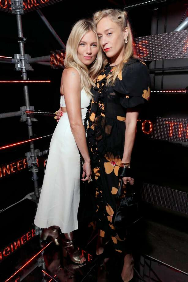 Actresses Sienna Miller and Chloe Sevigny attend the Bold and Fearless party April 6 in San Francisco. Photo: Stéphane Feugère