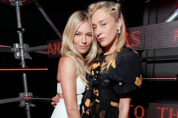 Actresses Sienna Miller and Chloe Sevigny attend the Bold and Fearless party April 6 in San Francisco.