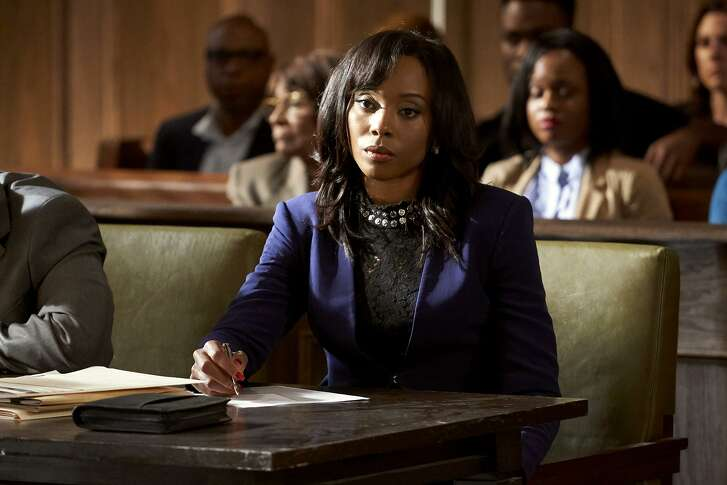"""Erica Ash in a scene from the BET series """"In Contempt."""""""