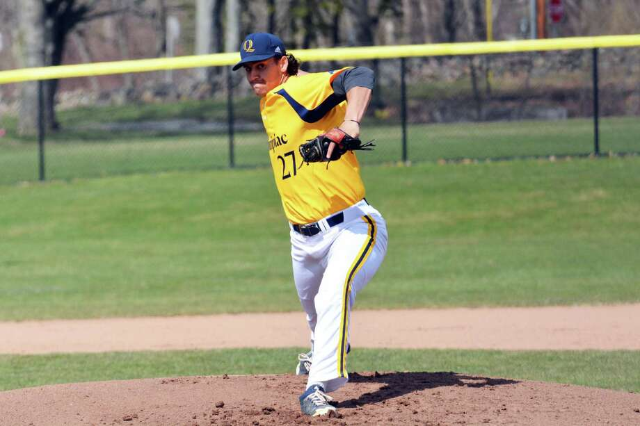 Quinnipiac's Tyler Poulin, a junior college transfer in his first season with the Bobcats, has a 2.68 ERA and 50 strikeouts in 43 innings. Photo: Quinnipiac Athletics /