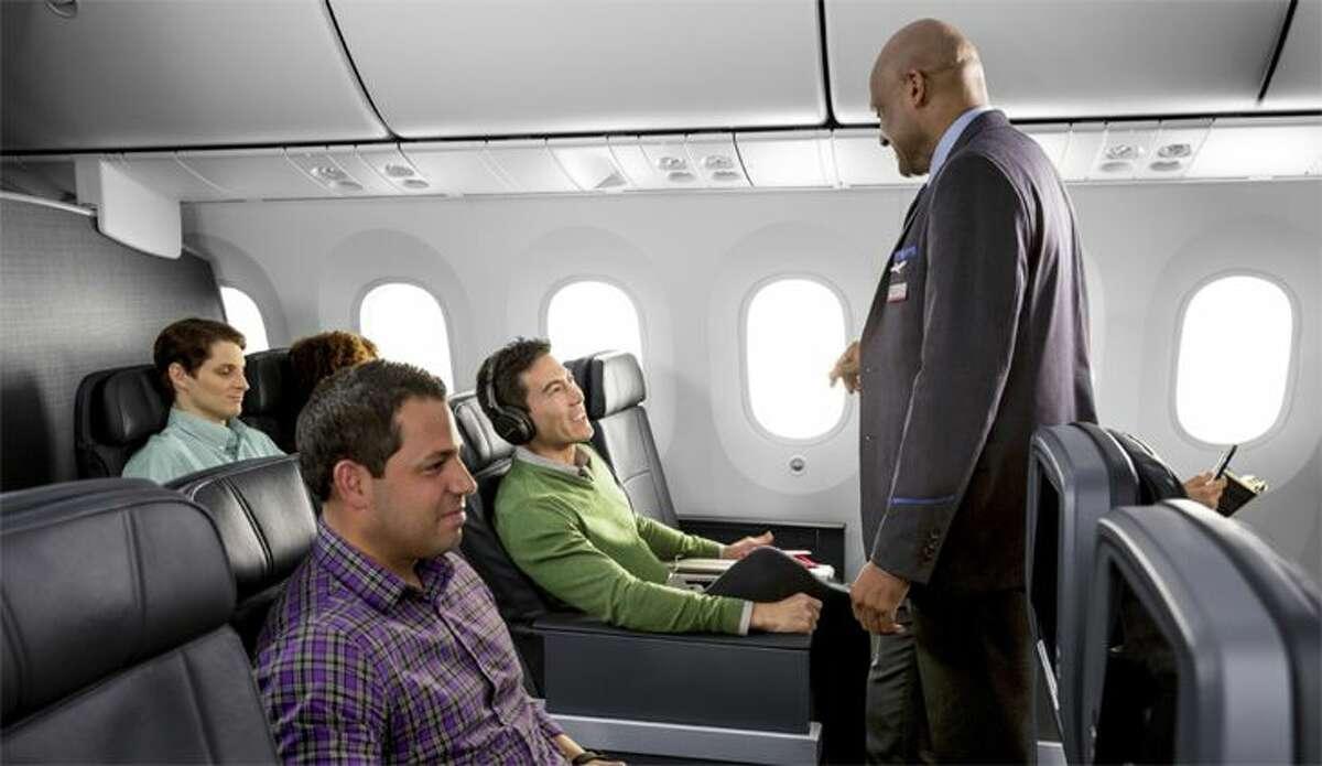 Behind their smiles, flight attendants can be harsh judges of passenger behavior. (Image: American)