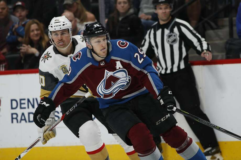 Nathan MacKinnon led the surprising Avalanche with 39 goals and 58 assists, finishing fifth in the NHL in scoring. Photo: David Zalubowski / Associated Press