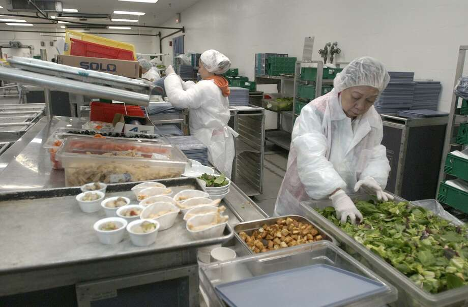 More than 800 United employees work in the airlines' Houston catering kitchen. Most of them are immigrants and people of color. Photo: Steve Campbell, Staff / Houston Chronicle / Houston Chronicle