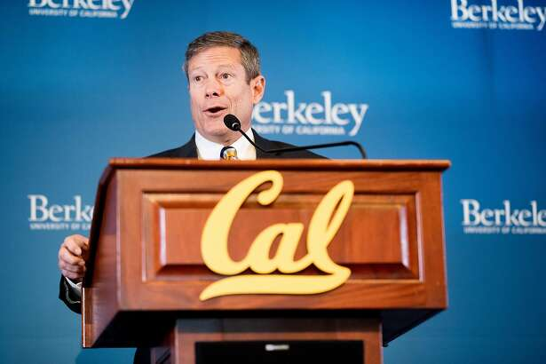 Jim Knowlton, incoming UC Berkeley athletic director, speaks during a press conference on Monday, April 9, 2018, in Berkeley, Calif.