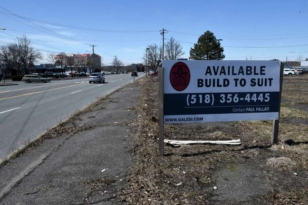 The former Starlite property on Route 9R on Monday, April 9, 2018, in Colonie N.Y. Town planners will review how traffic will be handled at the site. (Will Waldron/Times Union)