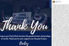 After weeks of charges, investigations, more investigations, resolutions, followed by a marathon 13-hour party trial on Sunday, King County Democrats Chair Bailey Stober has finally tended his resignation.  Stober was found guilty on five counts related to personal misconduct.