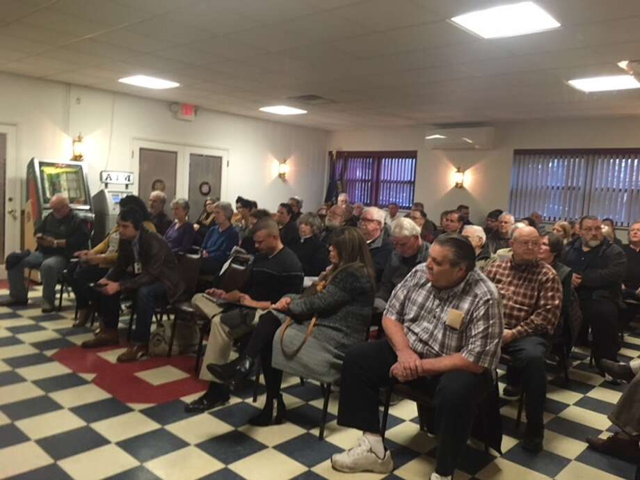 Residents filled up two room for a public hearing on an increase in village taxes. This was the first room to fill in the VFW in Ballston Spa. (Wendy Liberatore/Times Union) Photo: Wendy Liberatore/Times Union