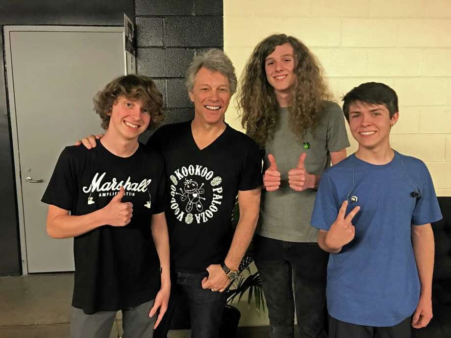 Members of the band, The Contagious - Mac Johnson, a 16-year-old sophomore at Montgomery High, 16-year-old Jake Douglas, also a sophomore at Montgomery High School; and Cayden Diebold, 16, who attends Oak Ridge High School - were recently selected to open for the band, Bon Jovi. Photo: The Contagious