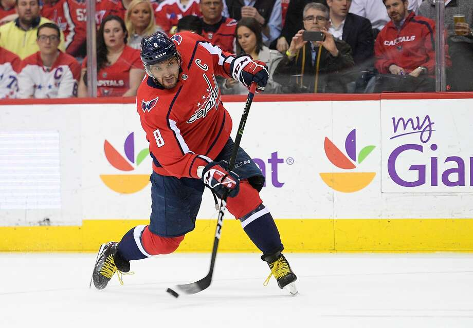 Capitals left wing Alex Ovechkin, now age 32, has led the NHL in goals seven times and scored 49 this season, but he's never been to the Stanley Cup Finals. Photo: Nick Wass / Associated Press
