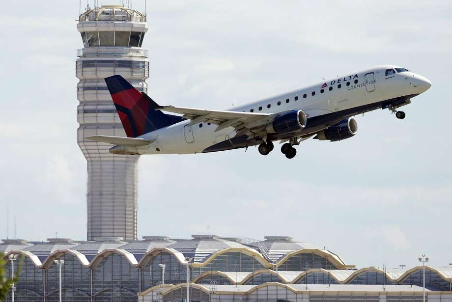 A Delta Air Lines Embraer regional jet takes off from Ronald Reagan Washington National Airport in Arlington, Va Photo: Manuel Balce Ceneta, Associated Press
