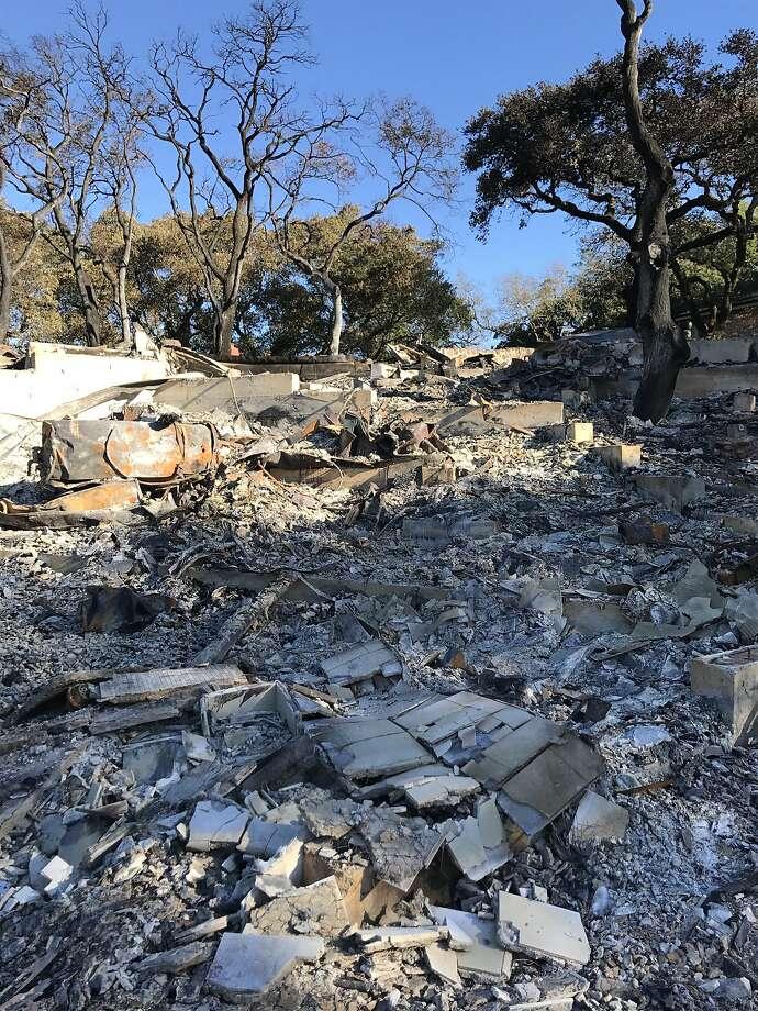 The remains of Michael J. Sangiacomo's home in Sonoma. Photo: Courtesy Michael J. Sangiacomo