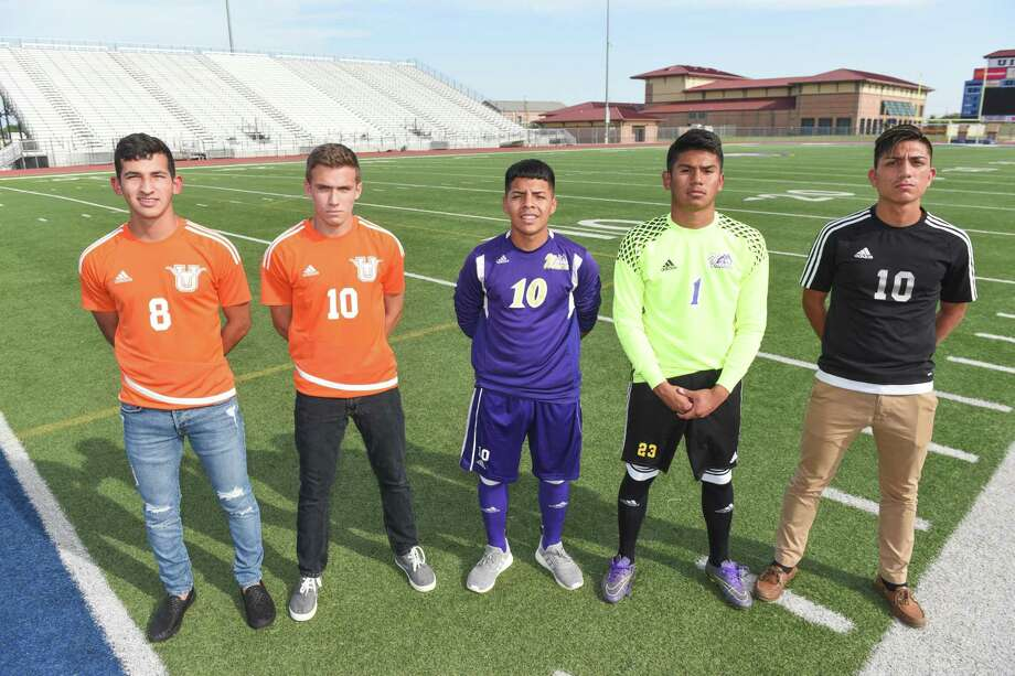 All-District main award winners in 29-6A included United's Martel Martinez (Most Valuable Player) and Gabriel Arias (co-Midfielder of the Year), LBJ's Henry Costilla (Forward of the Year) and Jesus De La Rosa (Goalkeeper of the Year) and United South's Ivan Ubaldo (co-Midfielder of the Year). Photo: Danny Zaragoza /Laredo Morning Times