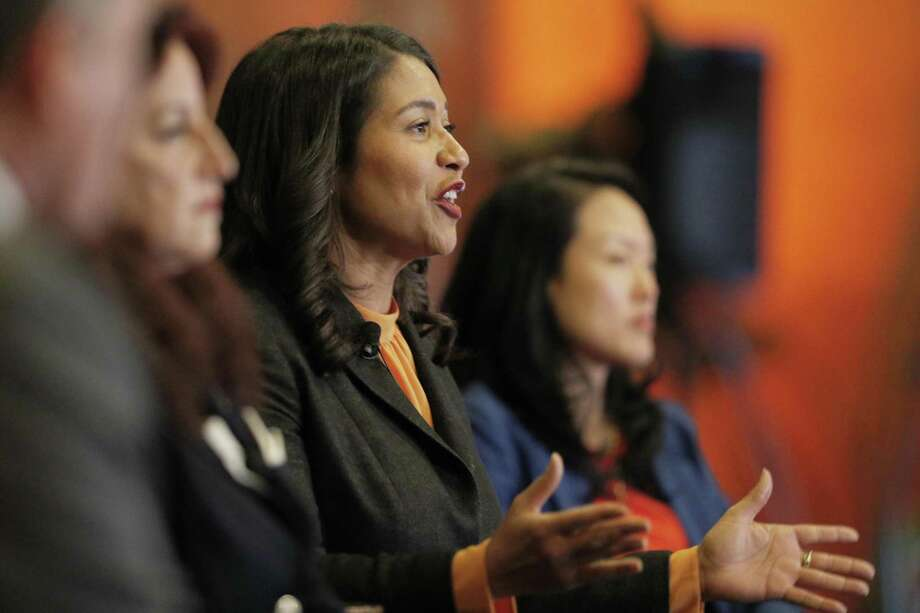 San Francisco mayoral candidate London Breed speaks during a candidates' forum at the San Francisco City Club. Photo: Carlos Avila Gonzalez / The Chronicle / ONLINE_YES