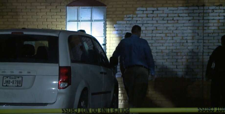 A man fired several shots through a bedroom window on Gulfton in Sharpstown Tuesday morning, April 10, 2018. A woman was shot in the leg, but her husband and four to five children were unhurt. Photo: Metro Video