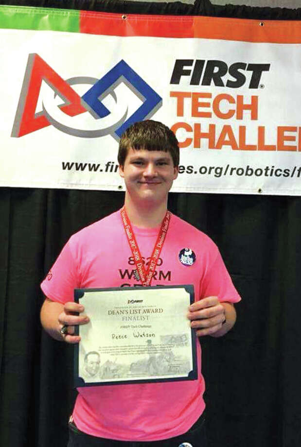 Reece Watson, a junior at EHS, is one of 140 finalists in the Dean's List competition with FIRST Robotics. Photo: For The Intelligencer