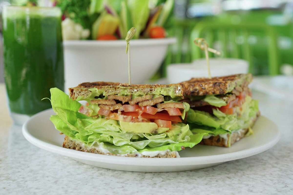 cTLT (tempeh, lettuce and tomato) sandwich.