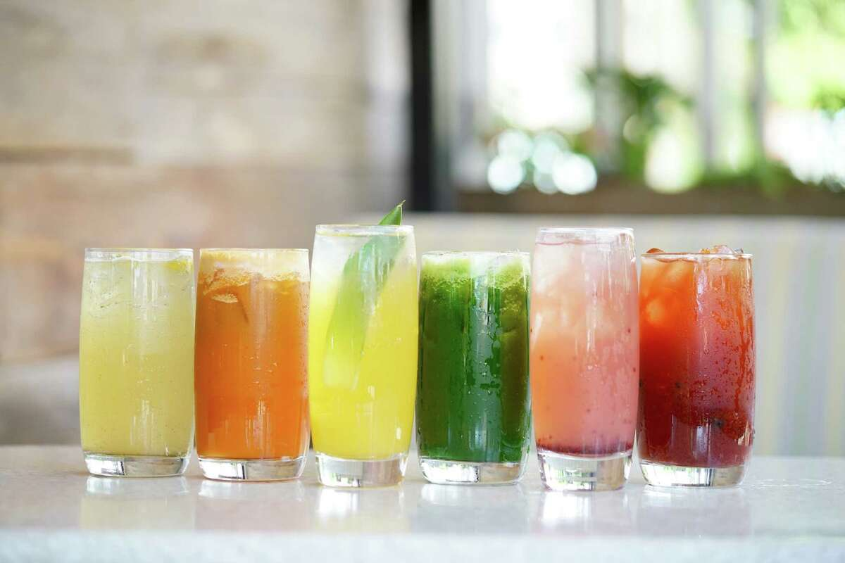 True Food Kitchen will open its second location in the Houston area on May 16 at Market Street, the Woodlands. The first opened in Houston in 2014. Shown: Assorted juices.
