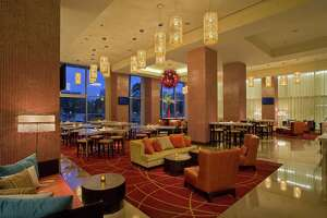 Pictured, Bar Rojo at Grand Hyatt San Antonio before the hotel underwent a $19 million renovation.