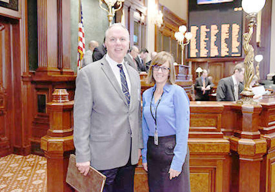 Rev. Doctor James R. Brooks of First Christian Church (Disciples of Christ) in Edwardsville delivered the opening invocation to the Illinois House of Representatives as a guest of state Rep. Katie Stuart. Photo: For The Telegraph