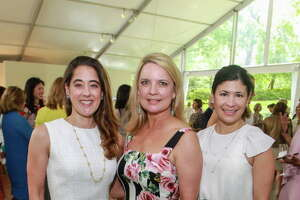 Kristina Somerville, from left, Melissa Juneau and Kristy Bradshaw at the Bayou Bend Luncheon and Fashion Show.