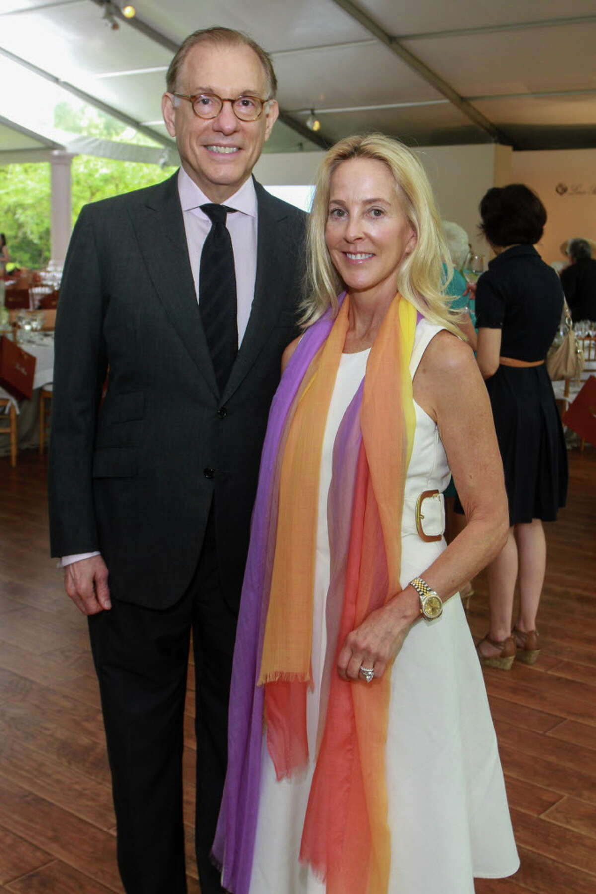 Gary Tinterow and Eliza Stedman at the Bayou Bend Luncheon and Fashion Show.