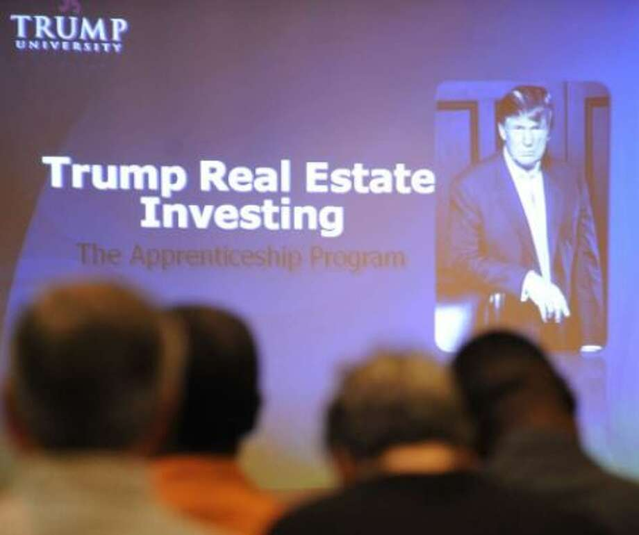 Students said they were bilked by the now-defunct Trump University Photo: Times Union