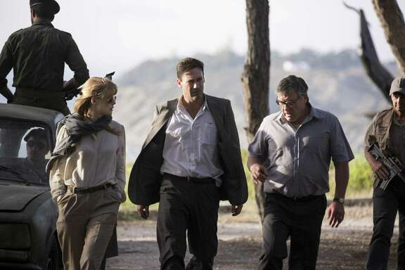 "Rosamund Pike, Jon Hamm and Dean Norris star in ""Beirut,"" written by Tony Gilroy."
