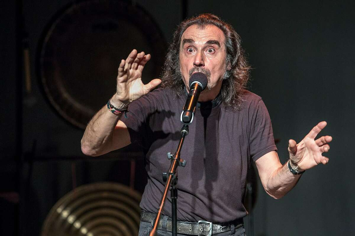 Italian sound poet Enzo Minarelli performs at the Other Minds Festival, 4/10/18