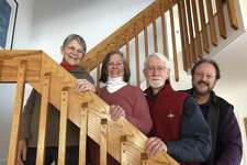From left,Nancy Wilson, Patty Chamberlain, George Bassett, David Chamberlain of Cahoots, who will perform April 21.