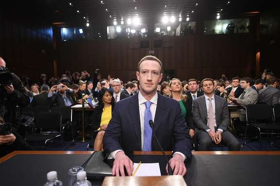 Facebook CEO Mark Zuckerberg arrives to testify before a joint hearing of the US Senate Commerce, Science and Transportation Committee and Senate Judiciary Committee on Capitol Hill, April 10, 2018 in Washington, DC. / AFP PHOTO / JIM WATSONJIM WATSON/AFP/Getty Images