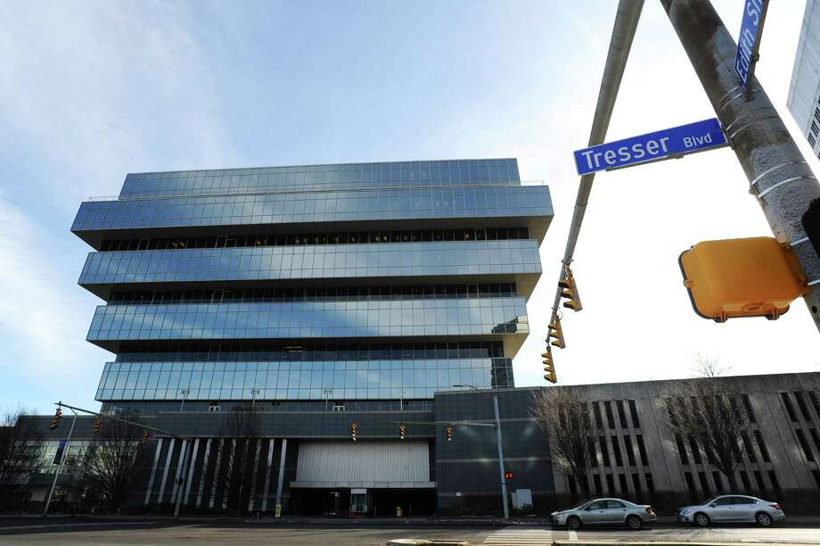 Charter Communications has leased 53,482 square feet in the office building at 201 Tresser Blvd., according to a new report from commercial real estate firm CBRE. Photo: Michael Cummo / Hearst Connecticut Media / Stamford Advocate